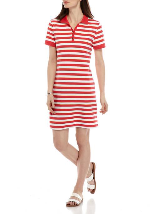 Kim Rogers® Womens Short Sleeve Polo Dress