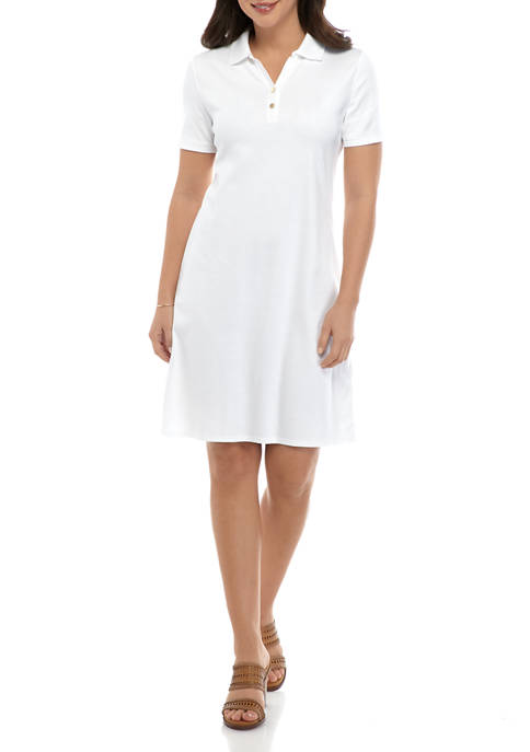 Kim Rogers® Womens Short Sleeve Polo Shirt Dress