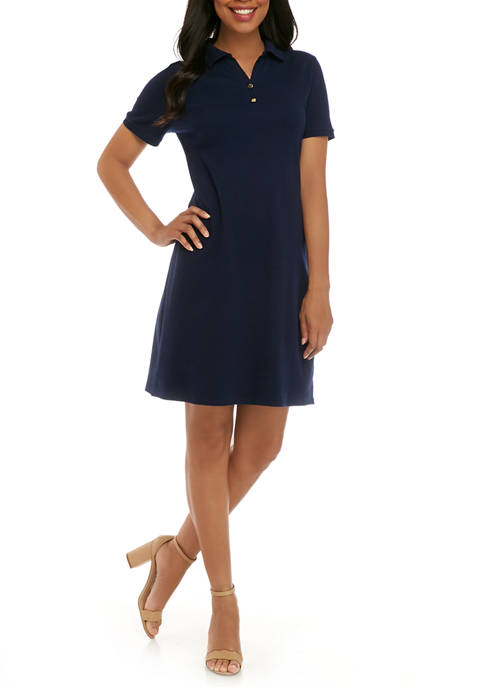 Womens Perfectly Soft Short Sleeve Polo Dress