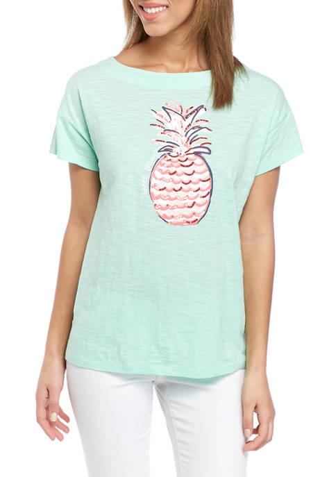 Kim Rogers® Womens Drop Shoulder Art T-Shirt