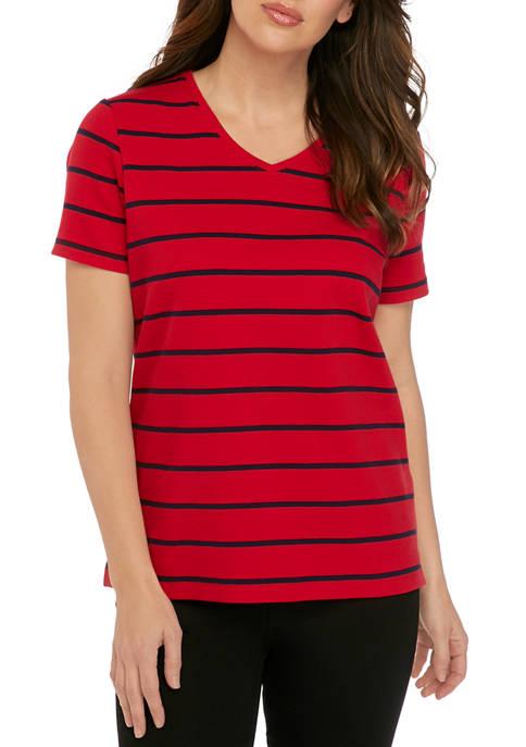 Kim Rogers® Womens Perfectly Soft Short Sleeve V-Neck