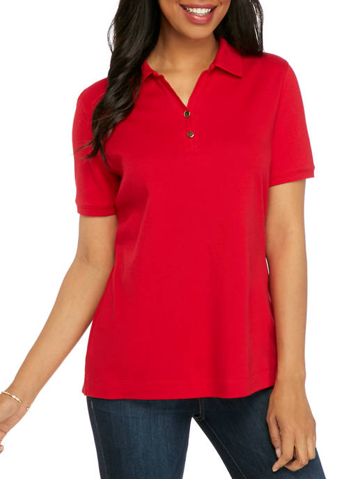 Womens Perfectly Soft Short Sleeve Polo