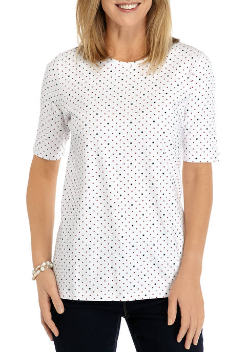 Kim Rogers® Womens Perfectly Soft Elbow Sleeve Crew