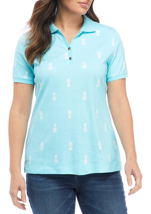 Kim Rogers® Womens Perfectly Soft Short Sleeve Polo