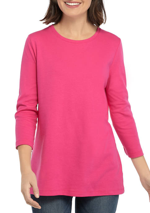 Kim Rogers® Womens Perfectly Soft 3/4 Sleeve Top
