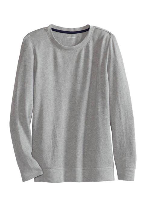 Kim Rogers® Womens Long Sleeve Contrast Seam Sweatshirt