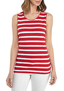 Kim Rogers® Sleeveless Striped Tank