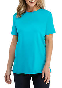 Kim Rogers® Short Sleeve Fashion Top