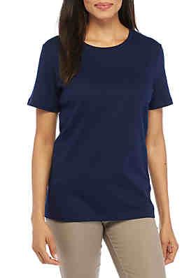 69383ba2a32 Kim Rogers® Short Sleeve Fashion Top ...