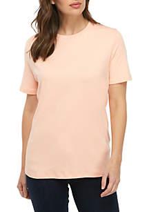 5498879136b ... Kim Rogers® Short Sleeve Fashion Top