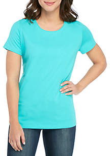Kim Rogers® Short Sleeve Solid Top