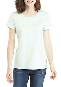 Short Sleeve Solid Top