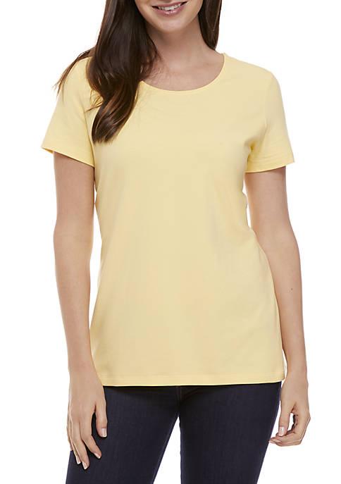 Kim Rogers® Short Sleeve Solid Top