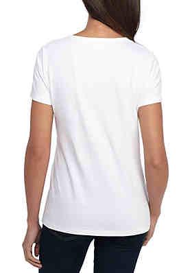 bd364dee9c3 ... Kim Rogers® Short Sleeve Solid Top