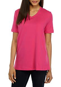 Short Sleeve V-Neck Fashion Top