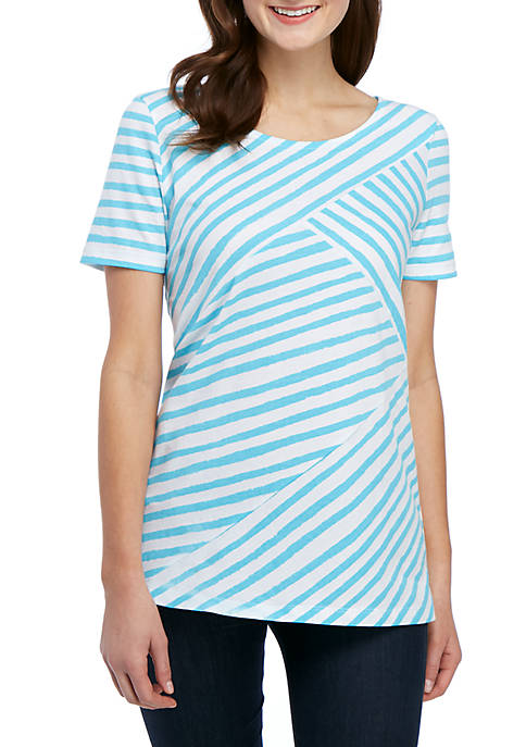 Kim Rogers® Short Sleeve Printed Top