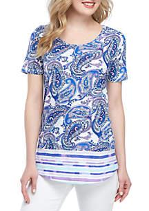 Kim Rogers® Short Sleeve Paisley Tunic