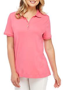 Short Sleeve 2-Button Polo Shirt