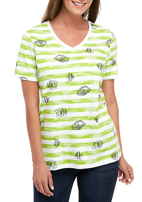 Kim Rogers® Short Sleeve Fishie T Shirt