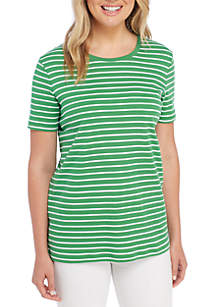 Short Sleeve Stripe Tee Shirt