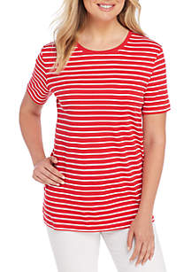 Short Sleeve Stripe Tee Shirt