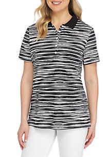 Paint Two Color Polo Top