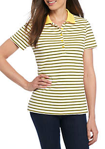 Solid Polo Stripe Shirt