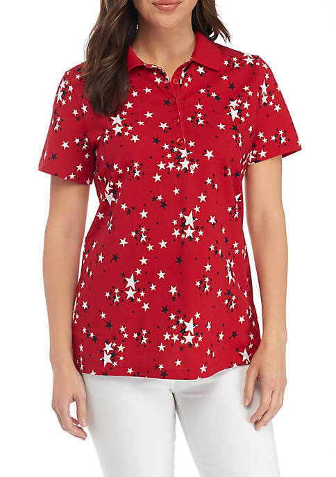 Kim Rogers® Star Polo With Tipping