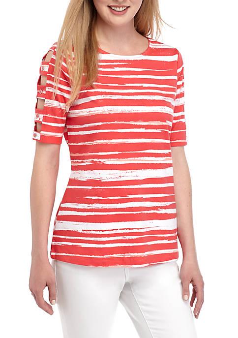 Kim Rogers® Elbow Ladder Sleeve T Shirt