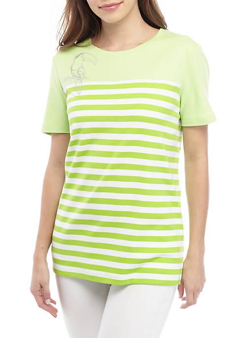 Kim Rogers® Short Sleeve Crew Neck T Shirt