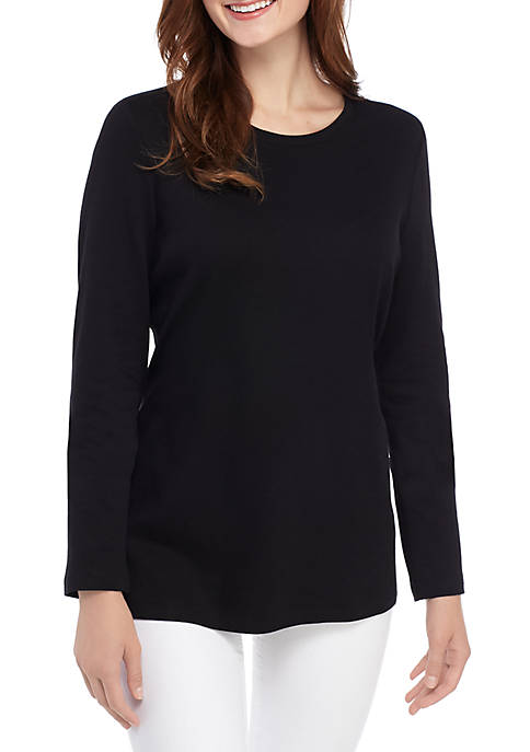 Kim Rogers® Long Sleeve Crew Neck T Shirt