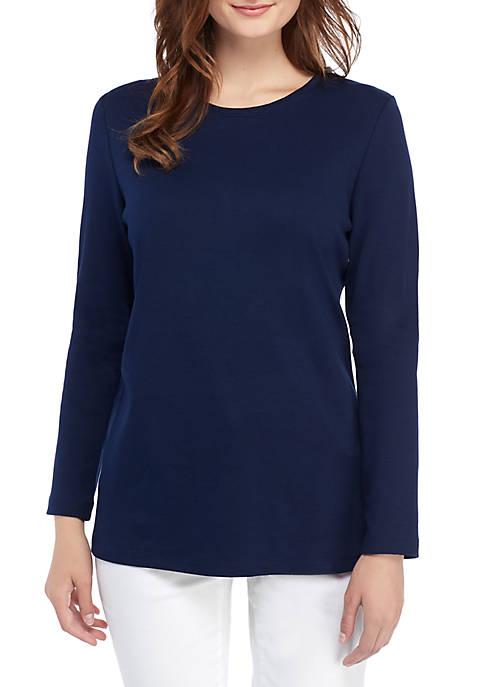 Kim Rogers® Long Sleeve Crew Neck T Shirt