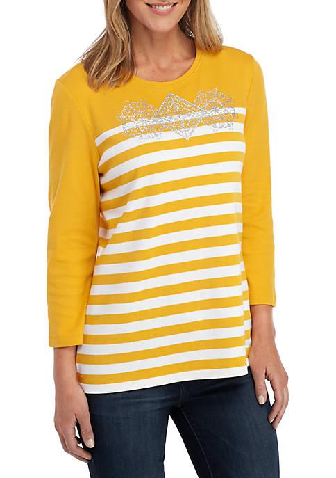 Kim Rogers® 3/4 Sleeve Knit Top