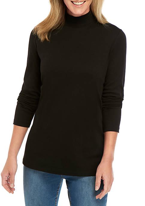 Kim Rogers® Long Sleeve Mock Neck Top