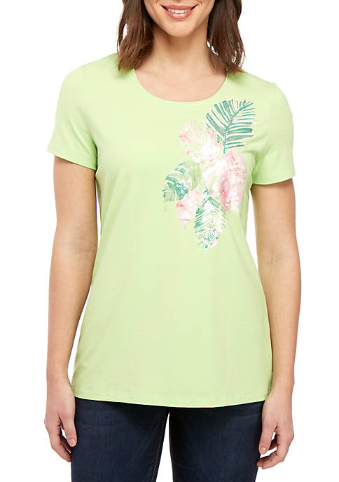 Short Sleeve Palm Frond Tee
