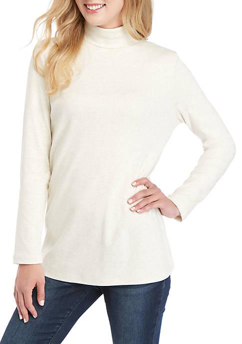 Kim Rogers® Long Sleeve Heather Turtleneck
