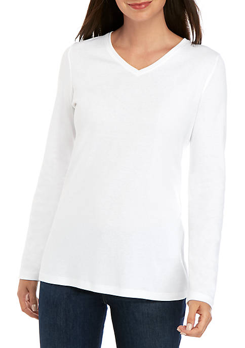 Kim Rogers® Long Sleeve Solid Performance Top