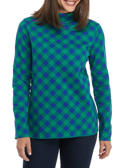Kim Rogers® Womens Long Sleeve Turt Buffalo Shirt