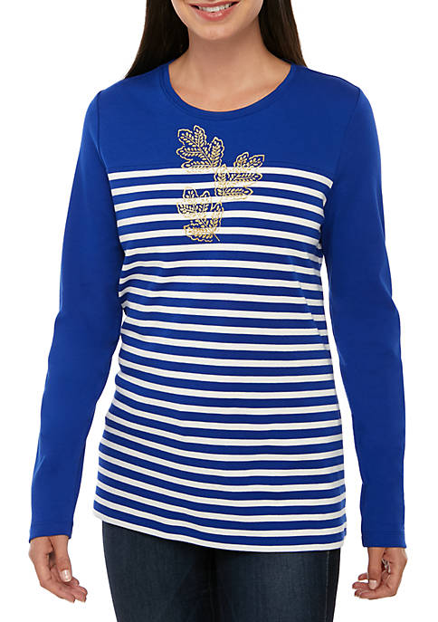 Kim Rogers® Long Sleeve Foil Placement T Shirt