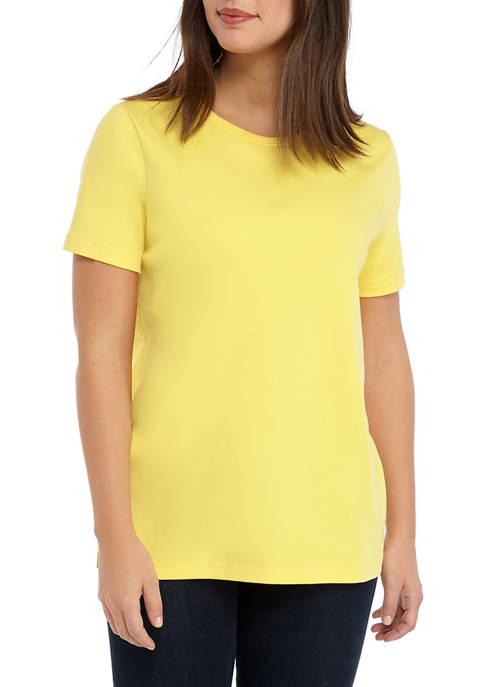 Kim Rogers® Womens Perfectly Soft Short Sleeve Crew