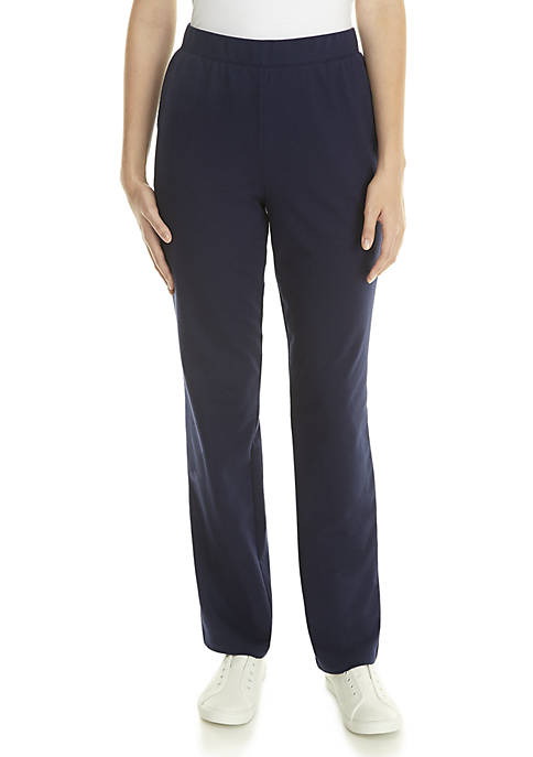 Kim Rogers® Solid Average Straight Pants