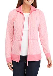Kim Rogers® Double Knit Zip Jacket