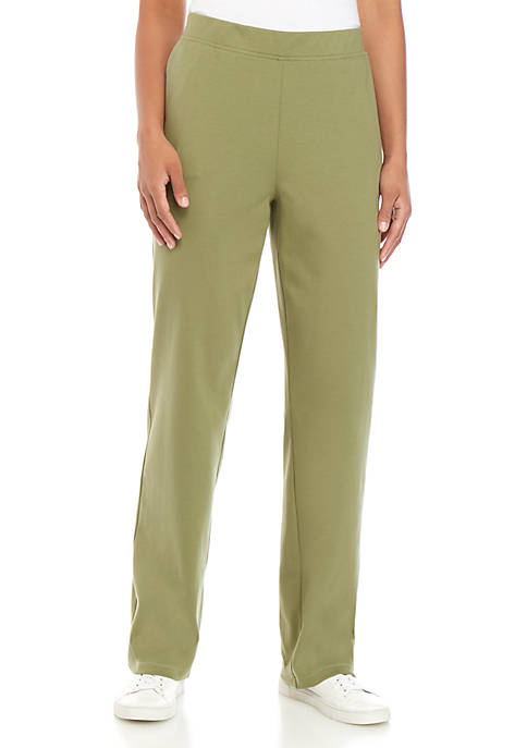 Kim Rogers® Womens Pull On Solid Pants
