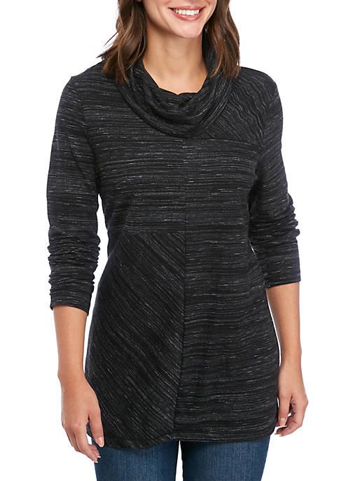 Womens Long Sleeve Seamed Tunic