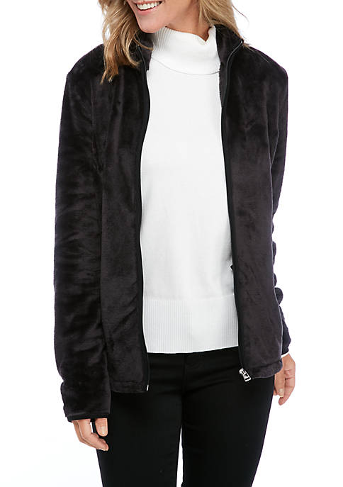 Kim Rogers® Womens Bunny Fleece Jacket