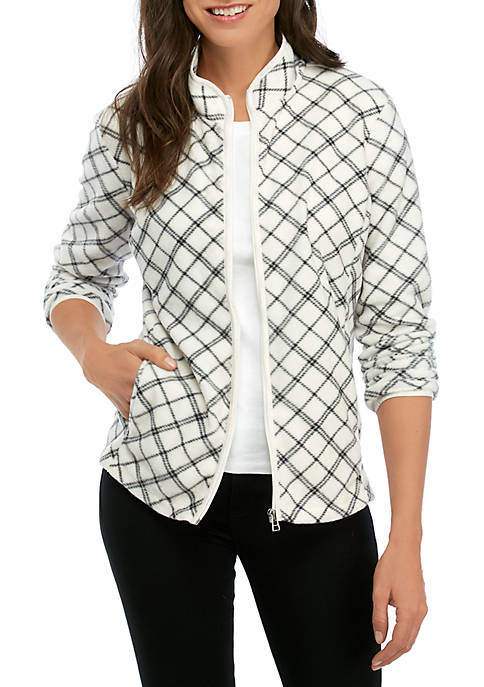 Kim Rogers® Womens Full Zip Fleece Jacket