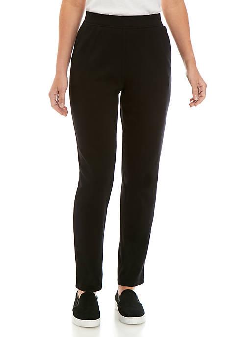 Kim Rogers® Womens Interlock Slim Short Leg Pants