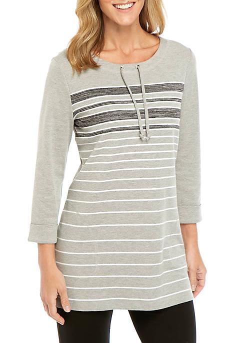 3/4 Sleeve Stripe Pullover