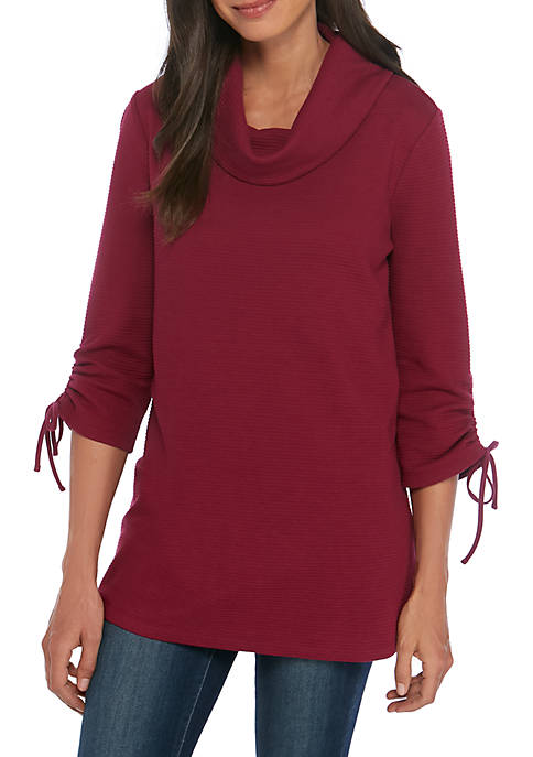 Kim Rogers® Textured Cowl Neck Top
