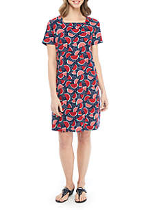 Kim Rogers® Short Sleeve Square Neck Dress